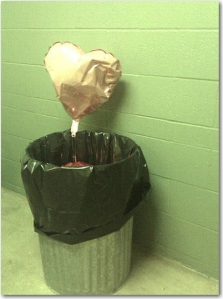 my heart in the trash capture