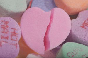 Broken Love Candy Heart. Image shot 2009. Exact date unknown.